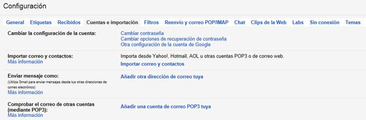 Varias cuentas con gmail