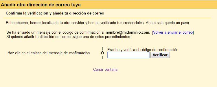 Verificar cuenta en gmail